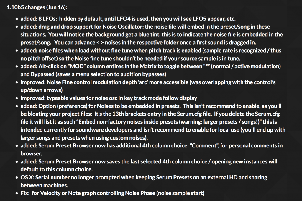Liste complète des améliorations de l'update de Juin 2016